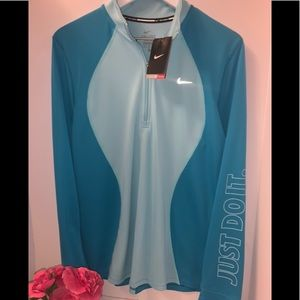 """Nike 1/2 zip """"NEW"""" pull over blue"""